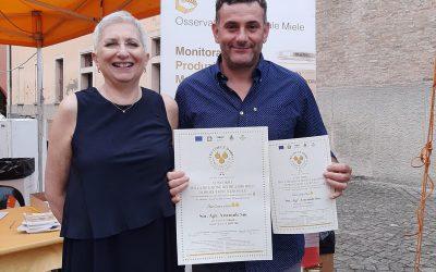 Premio Una e Due Gocce d'Oro 2021 per il nostro Miele di Coriandolo e Trifoglio